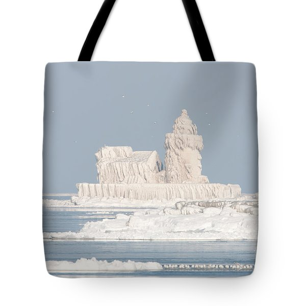 Cleveland Harbor West Pierhead Light II Tote Bag by Clarence Holmes