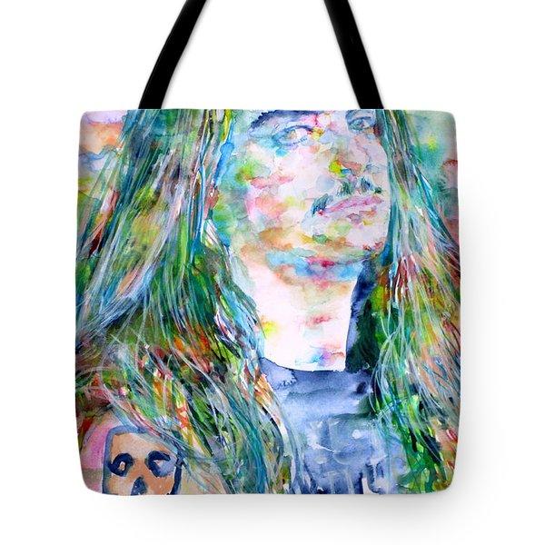Cliff Burton Portrait.1 Tote Bag by Fabrizio Cassetta