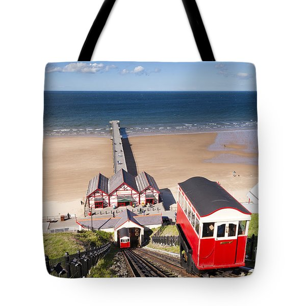 Cliff Railway Saltburn By The Sea Tote Bag by Colin and Linda McKie