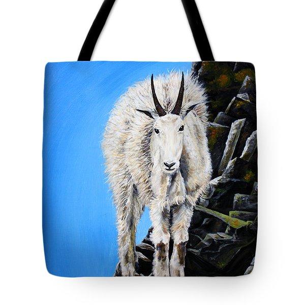 Cliffhanger Tote Bag by Teshia Art