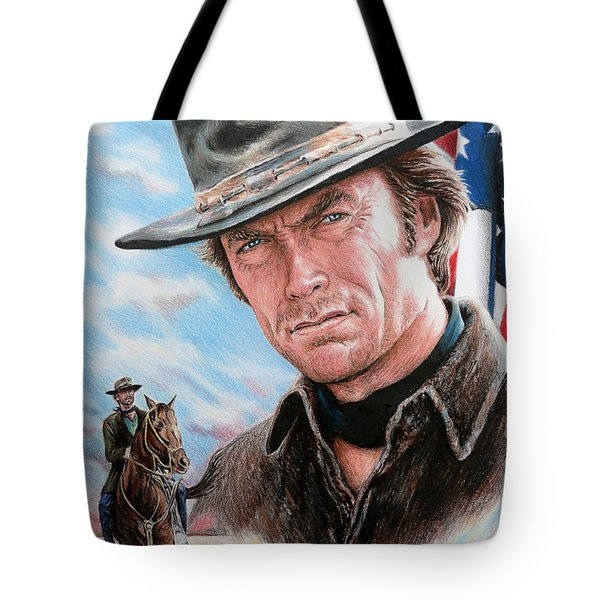 Clint Eastwood American Legend Tote Bag by Andrew Read