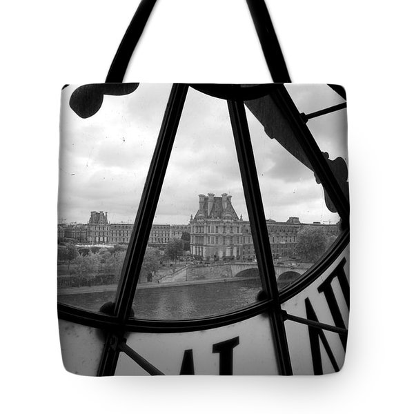 Clock At Musee D'orsay Tote Bag by Chevy Fleet