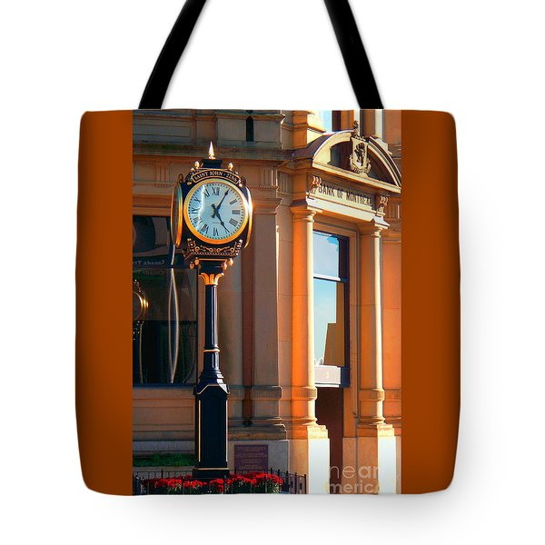 Clock Of New Brunswick Tote Bag by Gena Weiser