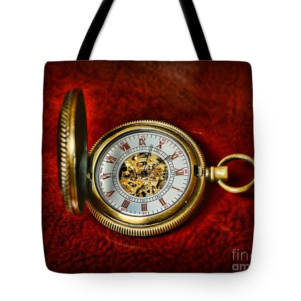 Clock - The Pocket Watch Tote Bag by Paul Ward