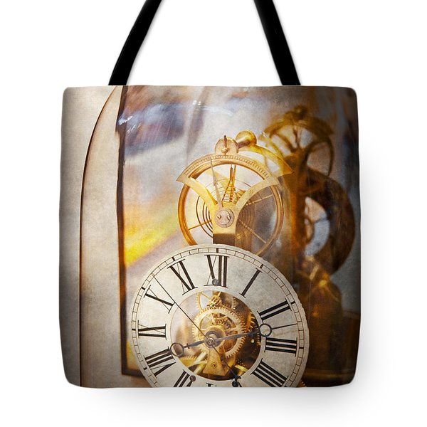 Clockmaker - A look back in time Tote Bag by Mike Savad