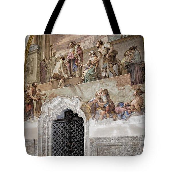Cloister Fresco Tote Bag by Joan Carroll