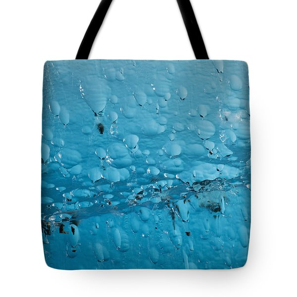 Close Up Of Air Bubbles In Iceberg Tote Bag by Ray Bulson