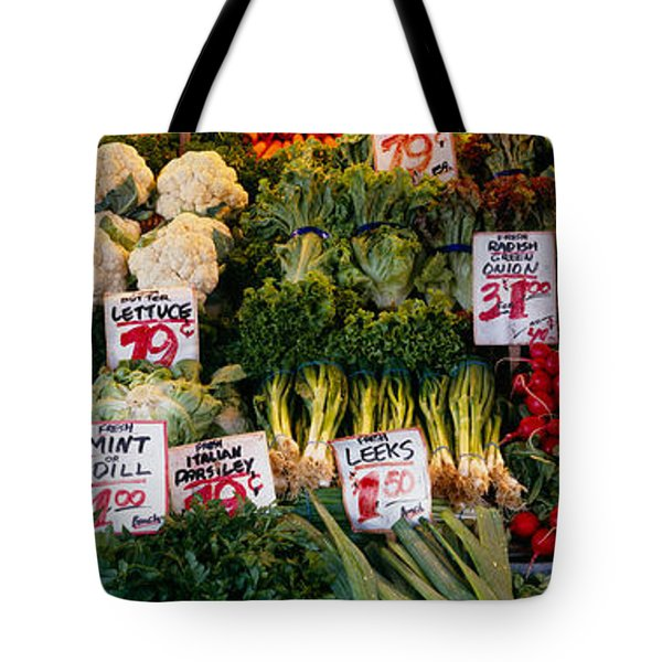 Close-up Of Pike Place Market, Seattle Tote Bag by Panoramic Images