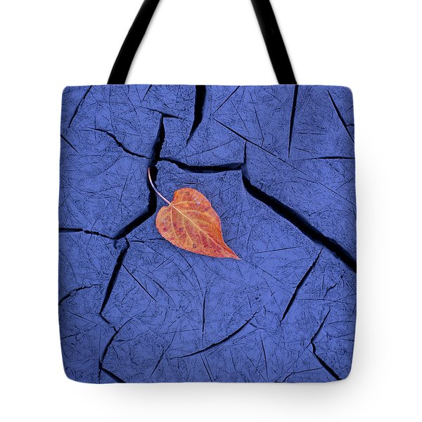 Closeup Of Autumn Colored Cottonwood Tote Bag by Carl R. Battreall