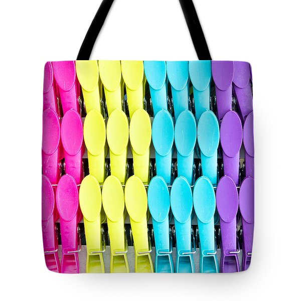 Clothes Pegs Tote Bag by Tom Gowanlock