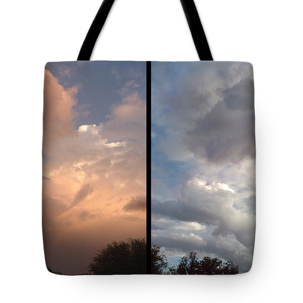 Cloud Diptych Tote Bag by James W Johnson