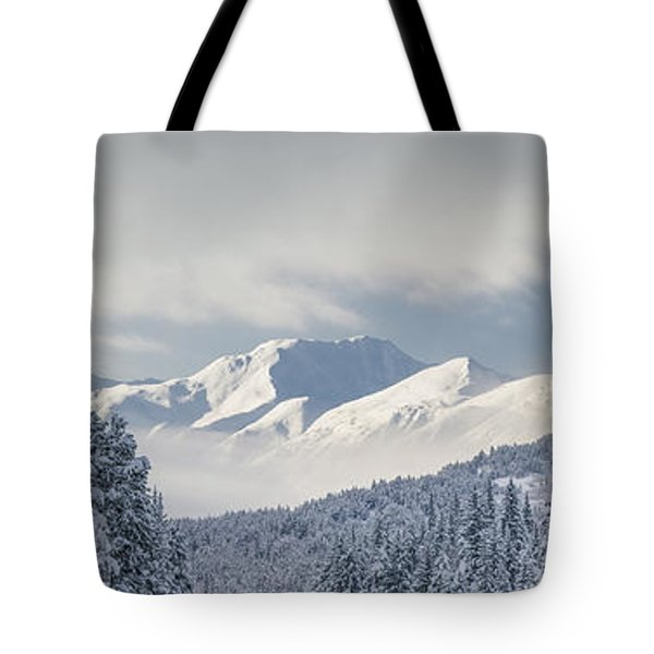 Clouds Clearing From The Kenai Tote Bag by Kevin Smith