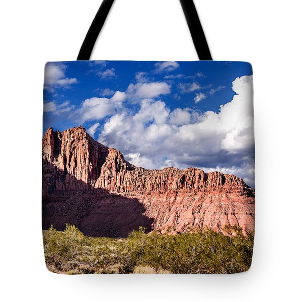 Clouds In Valley Of Fire Tote Bag by  Onyonet  Photo Studios