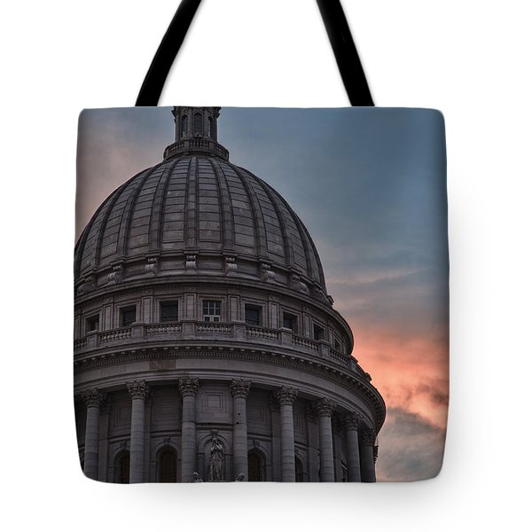 Clouds Over Democracy Tote Bag by Sebastian Musial