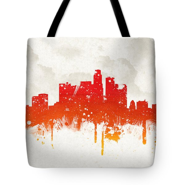 Clouds Over Los Angeles California Tote Bag by Aged Pixel