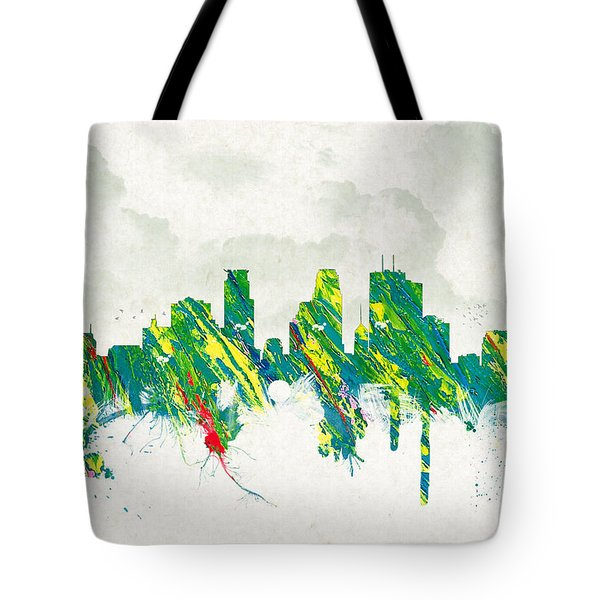 Clouds Over Minneapolis Minnesota USA Tote Bag by Aged Pixel