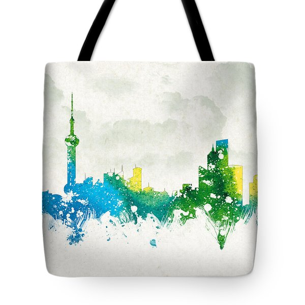 Clouds Over Shanghai China Tote Bag by Aged Pixel