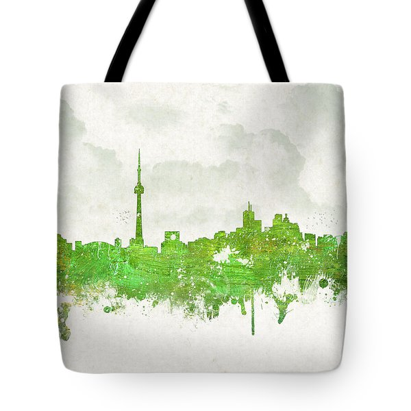 Clouds Over Toronto Canada Tote Bag by Aged Pixel