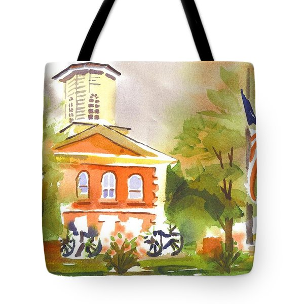 Cloudy Day At The Courthouse Tote Bag by Kip DeVore