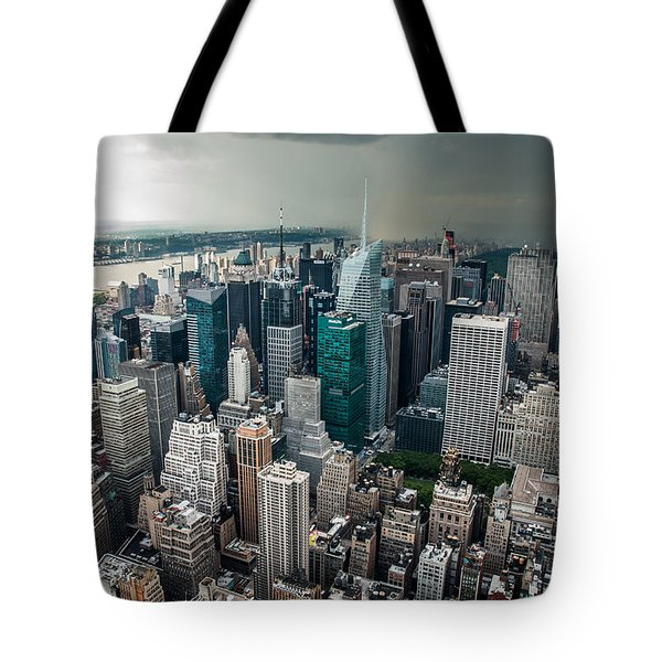 cloudy Manhattan Tote Bag by Hannes Cmarits