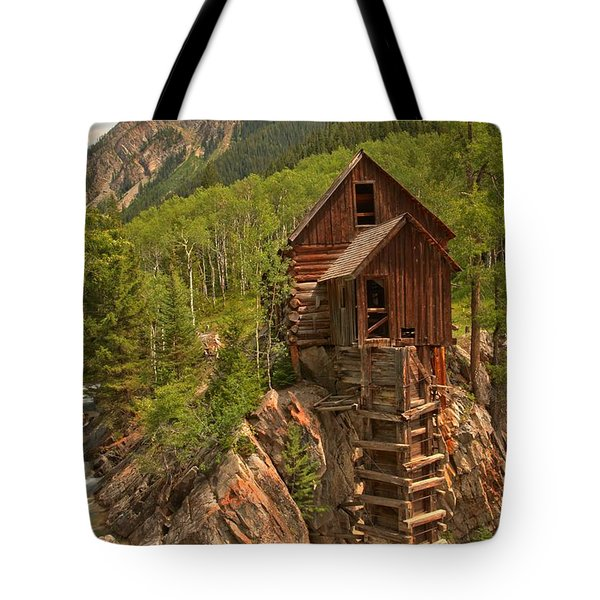 Cloudy Over Crystal Tote Bag by Adam Jewell