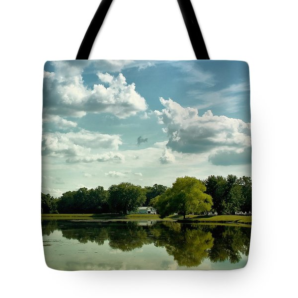 Cloudy Reflections Tote Bag by Kim Hojnacki