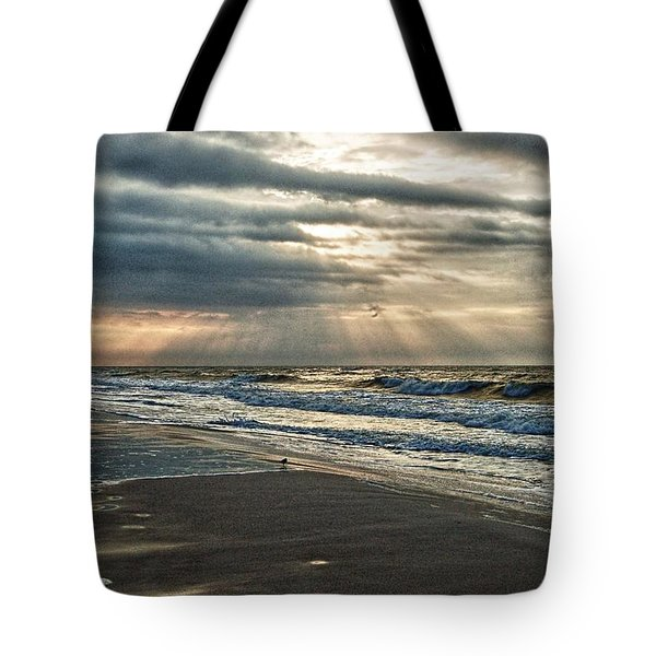 Cloudy Sunrise Tote Bag by Michael Thomas