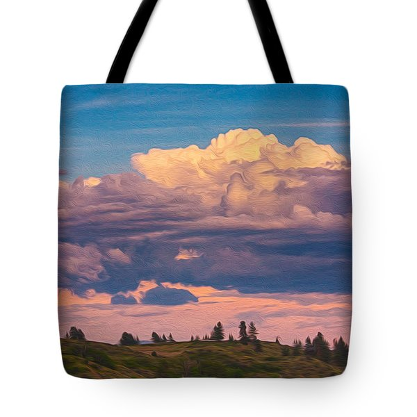 Cloudy Sunset Tote Bag by Omaste Witkowski