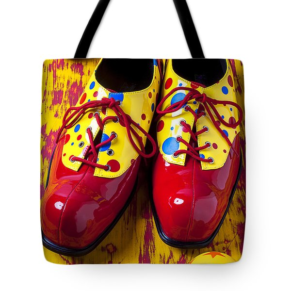 Clown Shoes And Balls Tote Bag by Garry Gay