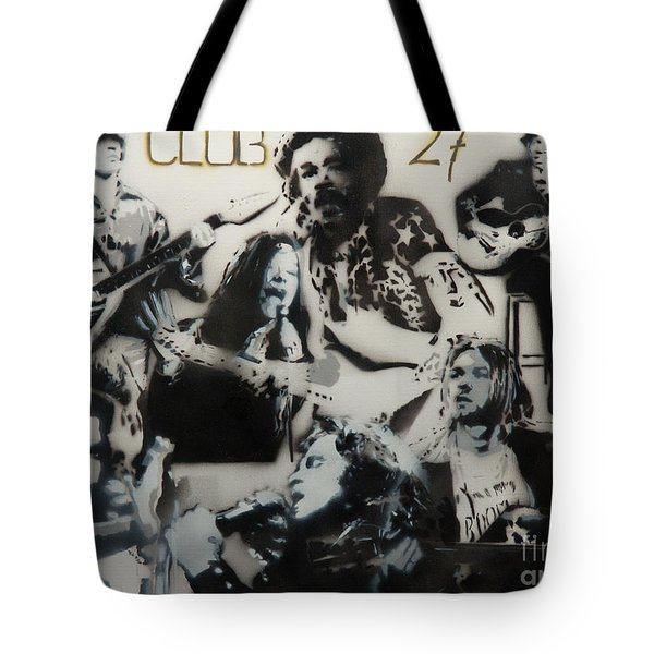 Club 27 Tote Bag by Barry Boom