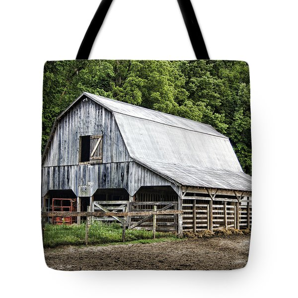 Clubhouse Road Barn Tote Bag by Cricket Hackmann