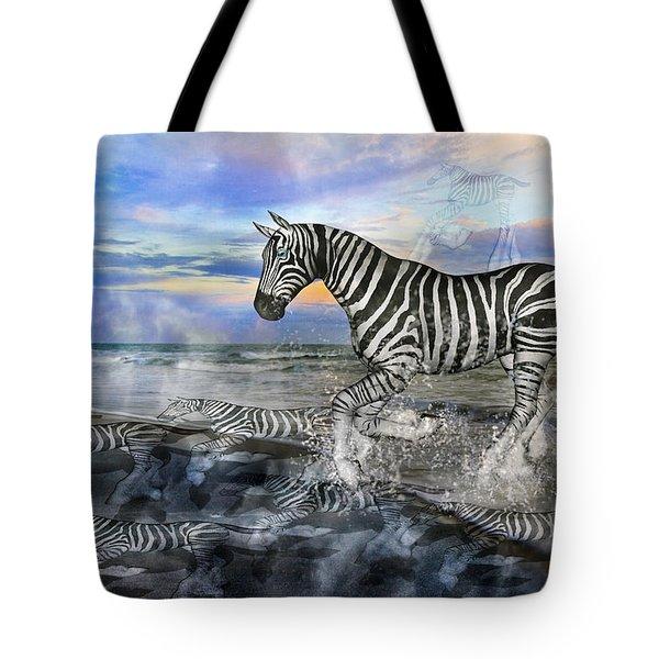 Coastal Stripes I Tote Bag by Betsy C Knapp