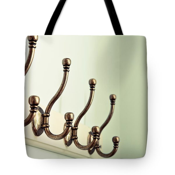 Coat Hooks Tote Bag by Tom Gowanlock