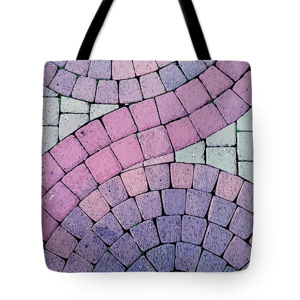 Cobblestone Abstract Tote Bag by Art Block Collections
