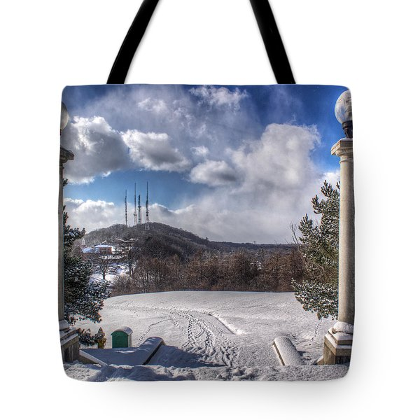 Cobbs Hill Park In Winter Tote Bag by Tim Buisman