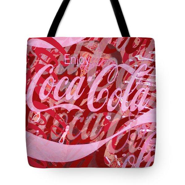 Coca-Cola Collage Tote Bag by Tony Rubino