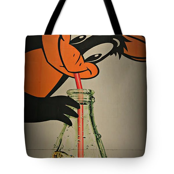 Coca Cola Orioles Sign Tote Bag by Stephen Stookey