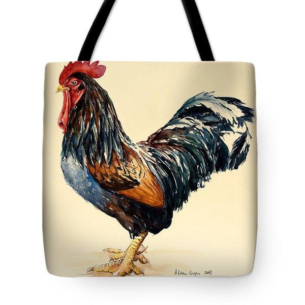Cockerel Tote Bag by Alison Cooper