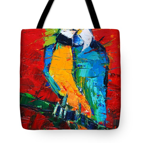 Coco The Talkative Parrot Tote Bag by Mona Edulesco