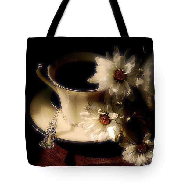 Coffee And Daisies  Tote Bag by Lois Bryan