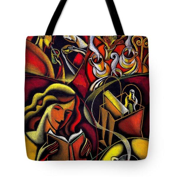 Coffee Break Tote Bag by Leon Zernitsky