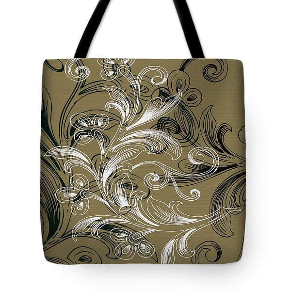 Coffee Flowers 4 Olive Tote Bag by Angelina Vick