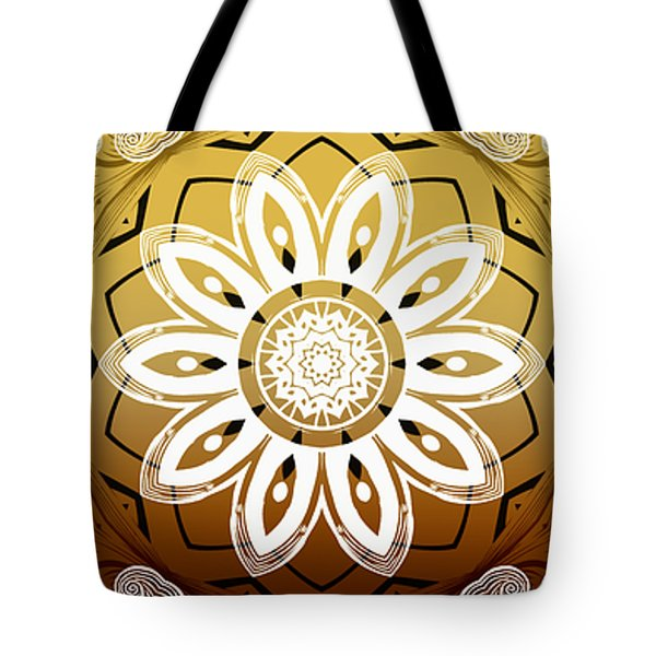 Coffee Flowers Calypso Triptych 2 Horizontal   Tote Bag by Angelina Vick