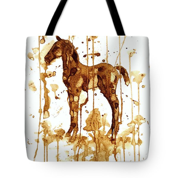 Coffee Foal Tote Bag by Zaira Dzhaubaeva