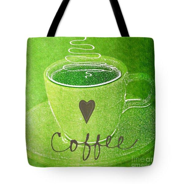 Coffee Tote Bag by Linda Woods