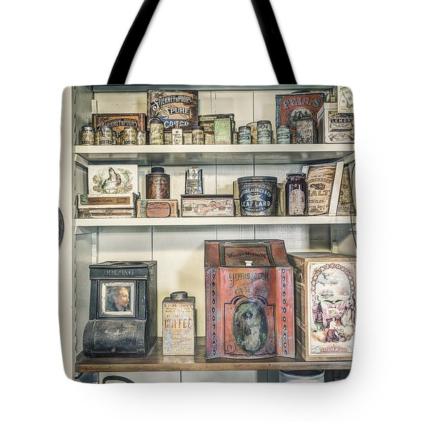 Coffee Tobacco And Spice - On The Shelves At A 19th Century General Store Tote Bag by Gary Heller