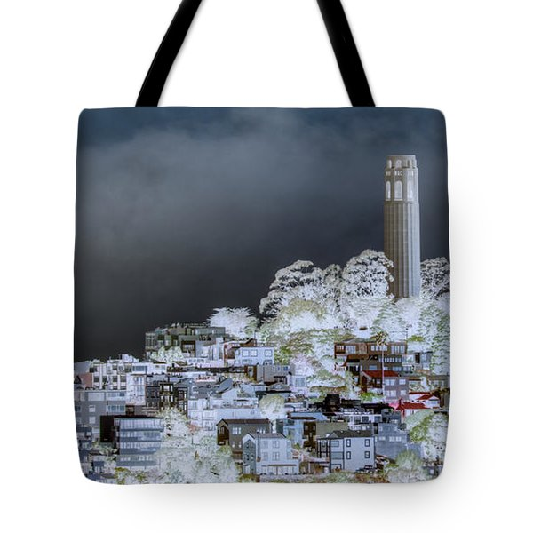 Coit Tower Surreal Tote Bag by Agrofilms Photography