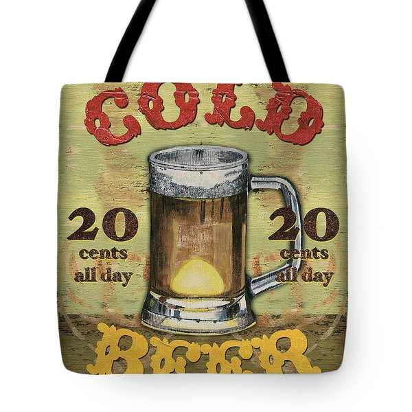 Cold Beer Tote Bag by Debbie DeWitt