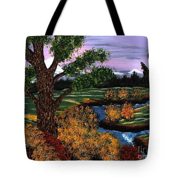 Coldest Mountain Brook Tote Bag by Barbara Griffin