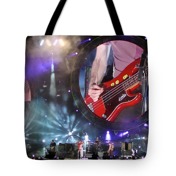 Coldplay - Sydney 2012 Tote Bag by Chris Cousins
